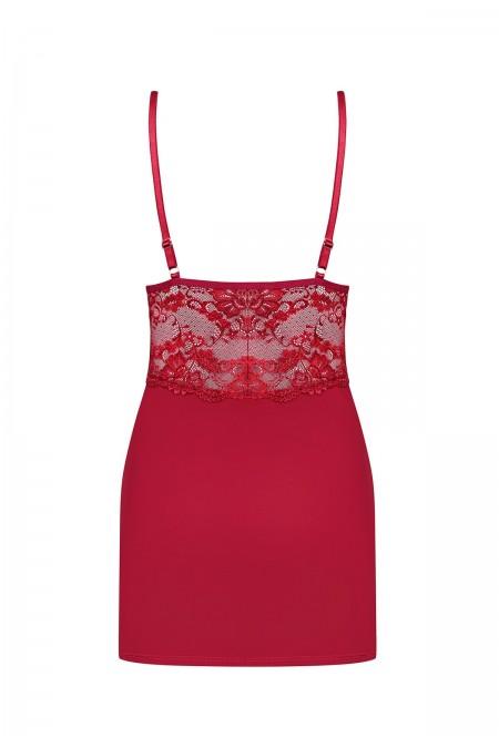 OB 810-CHE-3 chemise & thong ruby