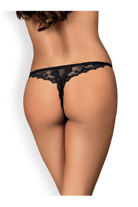 OB Letica crotchless thong black
