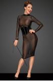 Klassisches Kleid aus weichem und elastischen Tüll F182 von Noir Handmade Decadence Collection